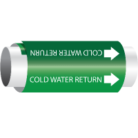 Cold Water Return - Setmark® Snap-Around Pipe Markers