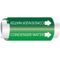 Condenser Water - Setmark® Snap-Around Pipe Markers