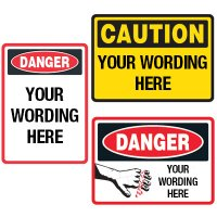 Semi-Custom Machine Safety Signs