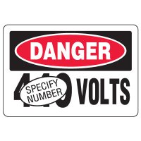 Semi-Custom Eco-Friendly Signs - Danger Volts