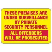 Premises Are Under Surveillance Sign