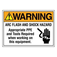 Super-Stik Signs - Warning Arc Flash And Shock Hazard