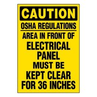 Super-Stik Signs - Caution OSHA Regulations Area