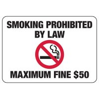 Alaska Smoking Prohibited By Law Sign
