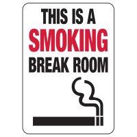 Connecticut Smoking Break Room Sign