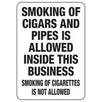 Nebraska Smoke-Free Workplace Law Signs - Smoking Of Cigars