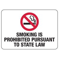 Connecticut Smoking Prohibited Sign