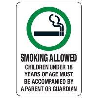 Colorado Smoke-Free Workplace Law Signs - Smoking Allowed