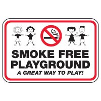 Smoke Free Playground - Playground Sign