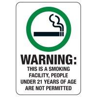 ID Smoke-Free Workplace Law Signs - Warning Smoking Facility