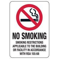 New Hampshire Smoke-Free Workplace Law Signs - No Smoking