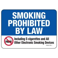 Hawaii Smoke-Free Law Sign - Smoking Prohibited By Law