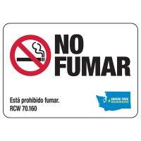 Washington Spanish No Smoking Sign