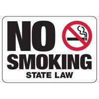 No Smoking State Law Sign