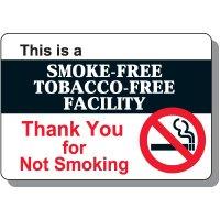 Smoke-Free Tobacco-Free Facility Sign