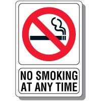 No Smoking At Any Time Sign