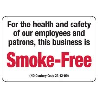 North Dakota Smoke-Free Business Sign