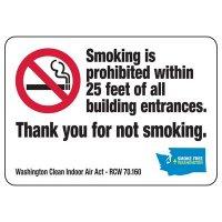 Washington Thank You For Not Smoking Sign