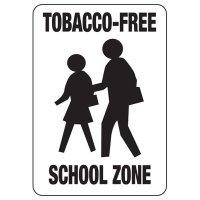 Tobacco-Free School Zone Sign