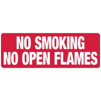 No Smoking, No Open Flames Sign