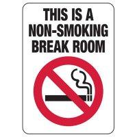 Connecticut Non-Smoking Break Room Sign