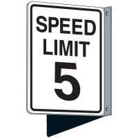 Flanged Traffic Speed Limit 5 Signs
