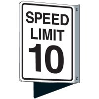 Flanged Traffic Speed Limit 10 Sign