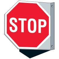 STOP - Single and Double Sided Wall Mounted Signs