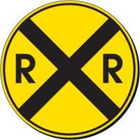 Railroad Crossing Symbol Sign