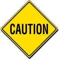 Reflective Warning Sign - Caution