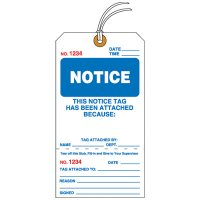 Notice Tear-Off Tags