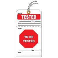 Tear-Off QC Action Tags - Tested