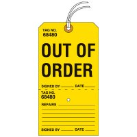 Out Of Order Tear-Off Tags