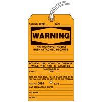 Warning Tear-Off Tags