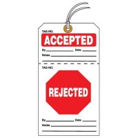 Tear-Off QC Action Tags - Accepted