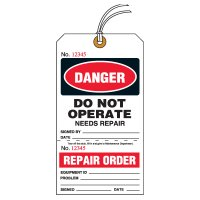 Danger Do Not Operate Tear-Off Tags