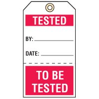Tear-Off Quality Control Tags - Tested
