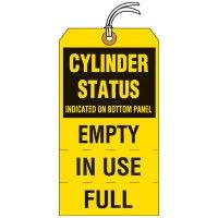 Cylinder Status Tear-Off Tags
