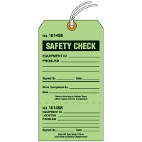 Safety Check Tear-Off Tags