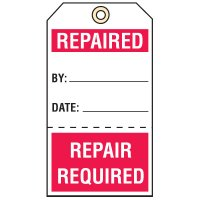 Tear-Off Quality Control Tags - Repaired