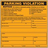 Parking Violation Warning Labels