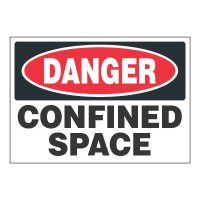 ToughWash® Adhesive Signs - Danger Confined Space