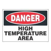 ToughWash® Adhesive Signs - Danger High Temperature Area