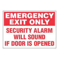 ToughWash® Adhesive Signs - Emergency Exit Only