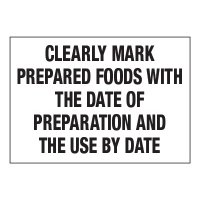 ToughWash® Adhesive Signs - Clearly Mark Prepared Foods