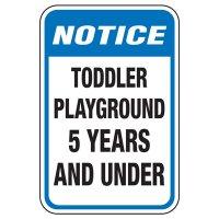 Toddler Playground - Playground Sign