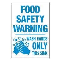 ToughWash® Adhesive Signs - Food Safety Warning Wash Hands