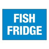 ToughWash® Adhesive Signs - Fish Fridge