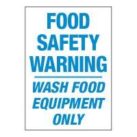 ToughWash® Adhesive Signs - Food Safety Warning Wash Food