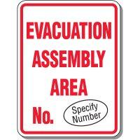 Custom Evacuation Assembly Area Sign